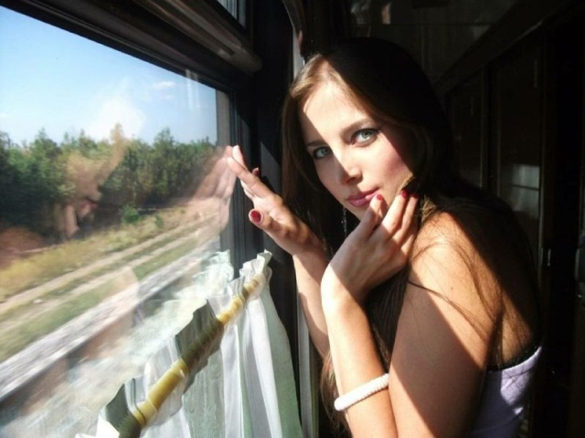 Sexy Naked Girl On The Train