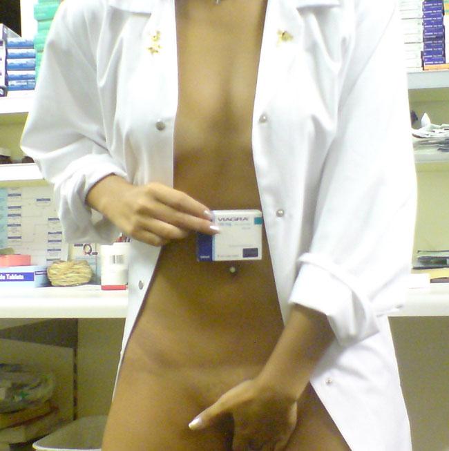 Naughty Nurse Nude Selfie