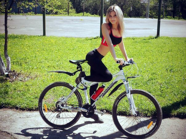 Sexy Girls Riding Bicycle