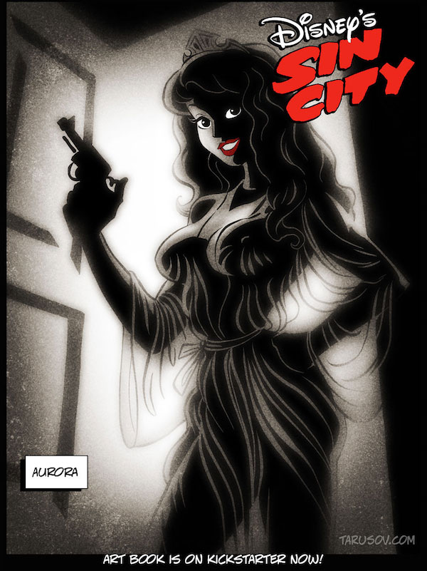 Artist Imagine Disney Princess As Sin City Character