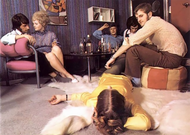 People Partying In 1970s