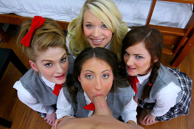 Sexy Chicks In School Uniform