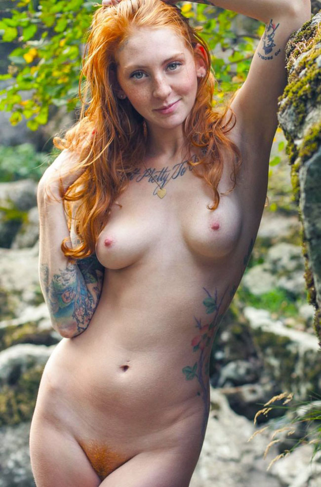 Sexy Naked Ginger Girl