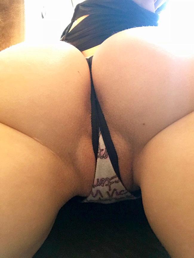 Asshole Behind Thong