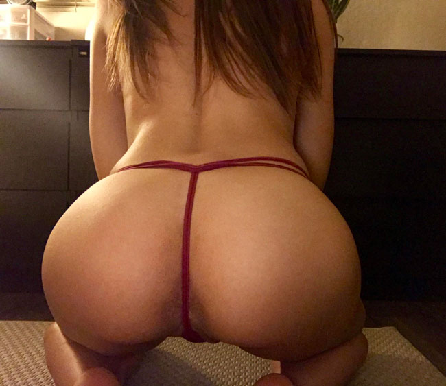 Asshole Behind Thong