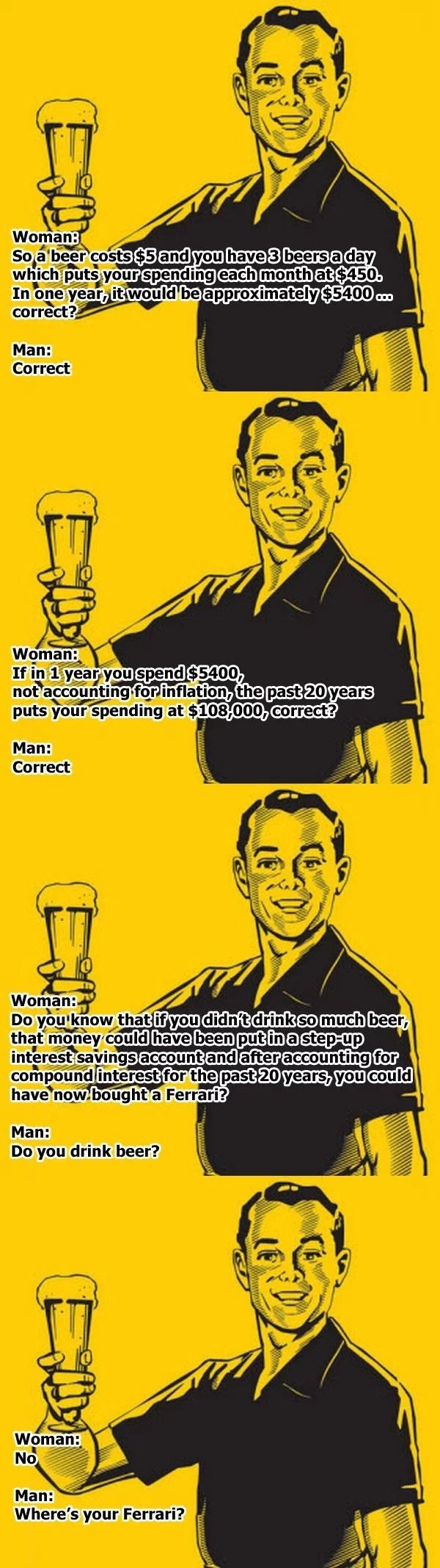 Men's Logic Funny Picture