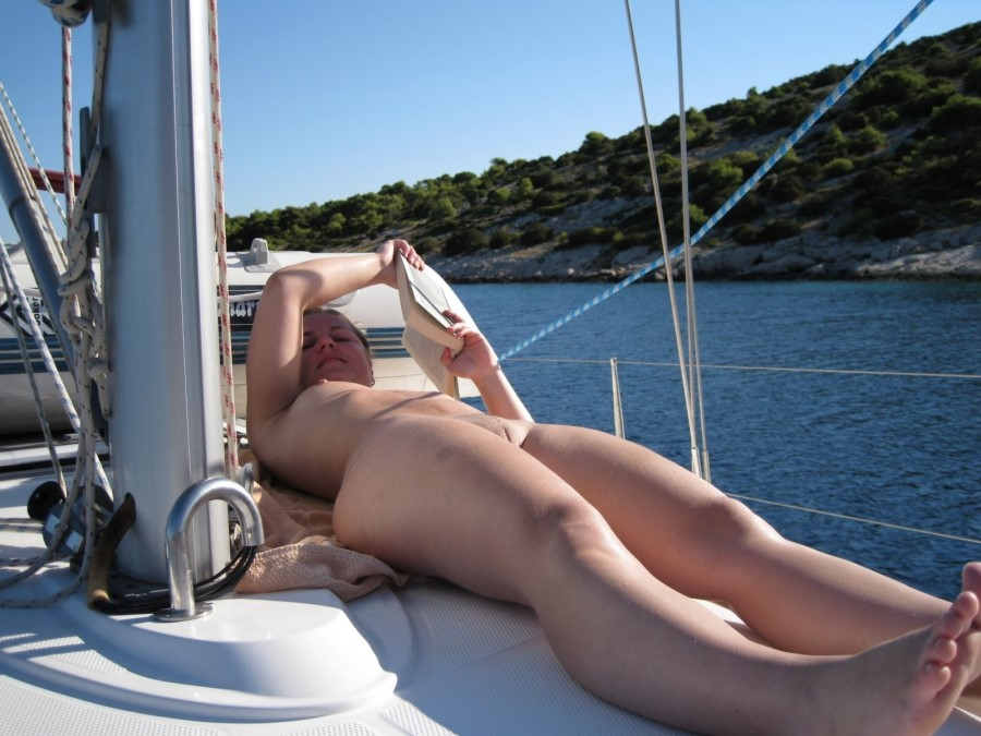 Girl on boat naked