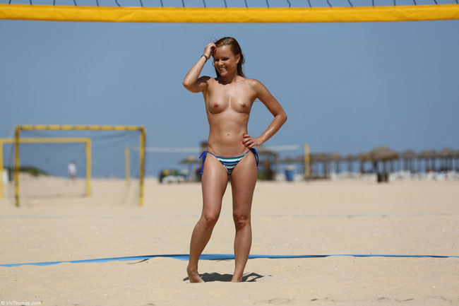 Sexy Naked Girls Playing Volleyball