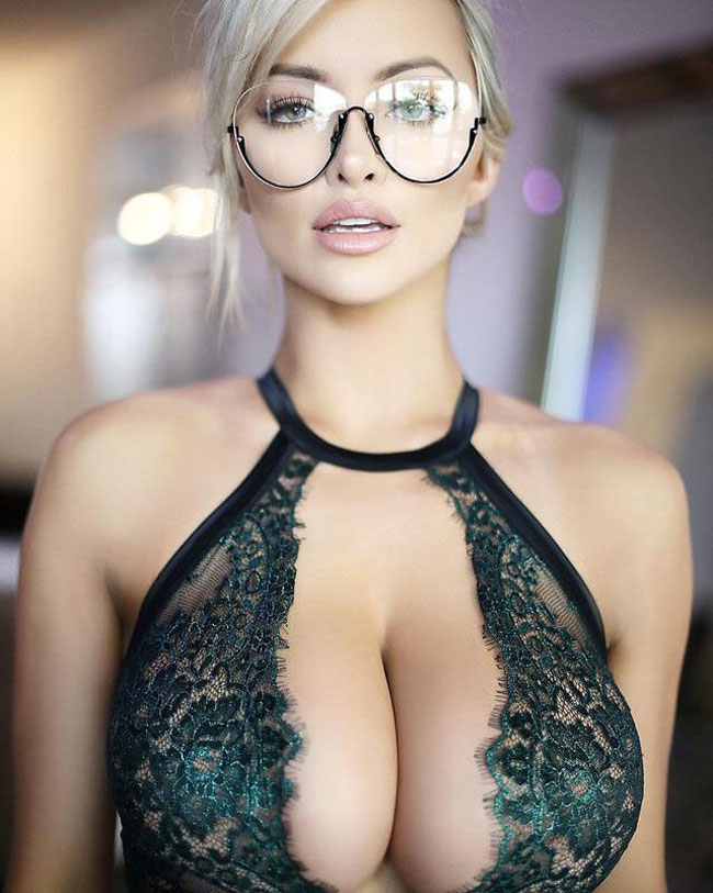Hot Girl In Glass