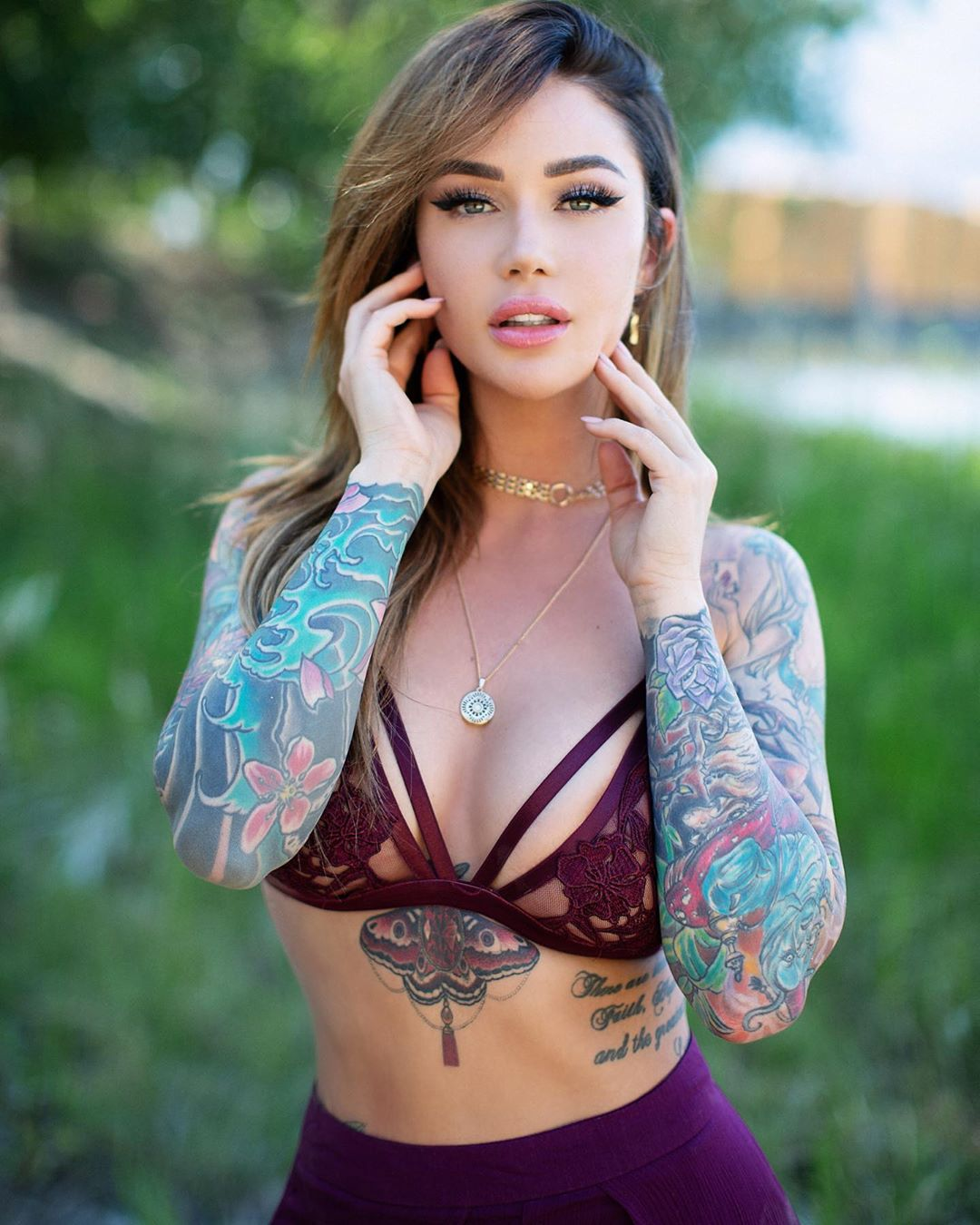 Sexy Babe With Tattoo