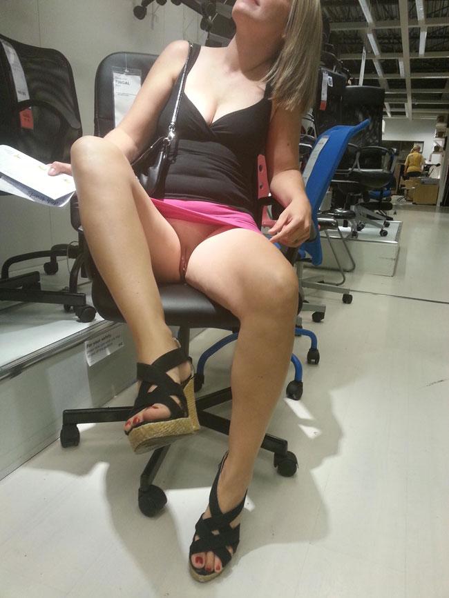Sexy Upskirt View