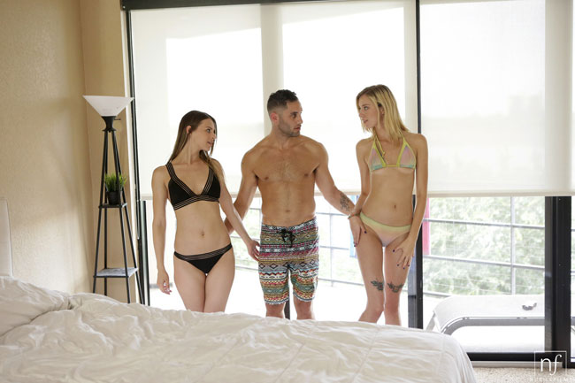 Haley Reed and Jillian Janson Into Threesome Sex