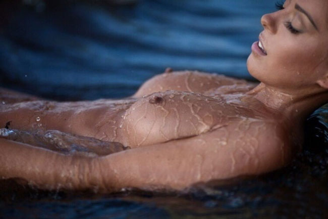 Wet Naked Girl