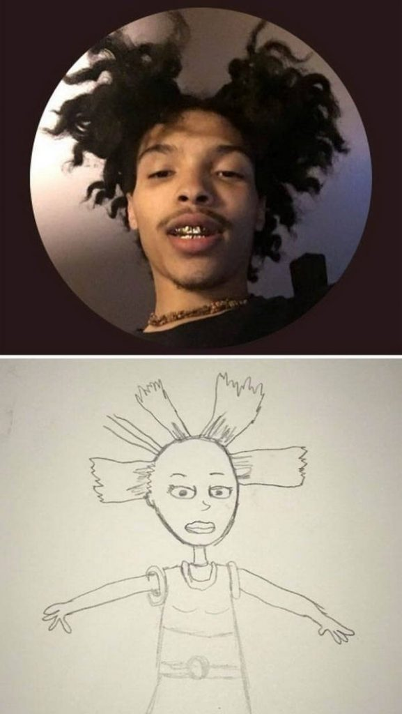 Artist Draw People Photos In A Hilarious Way