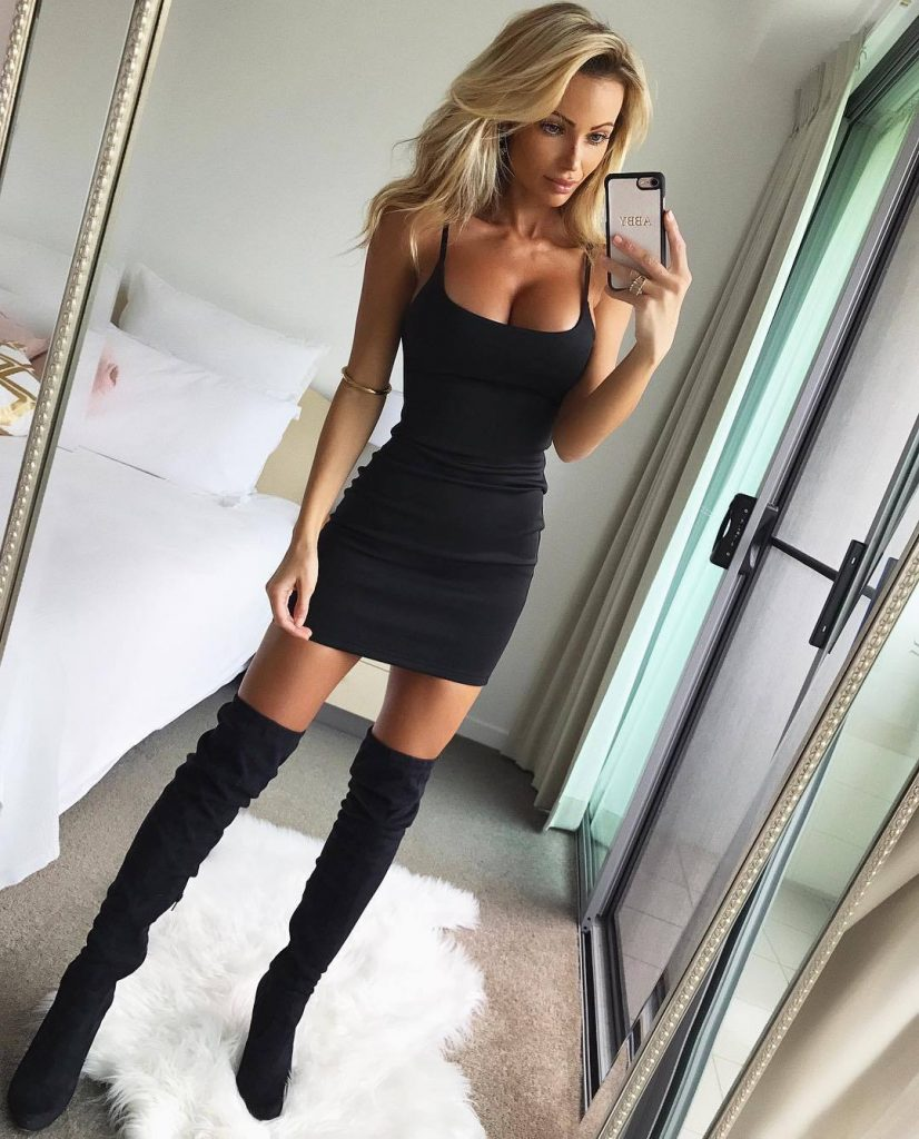 Sexy Lady In Tight Dress