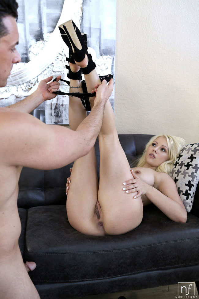 Hot Blonde Kylie Page Got Tits And Pussy Fucked