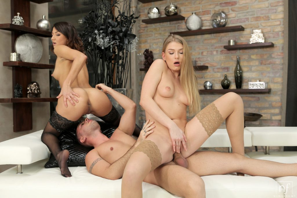 Two Pornstars Lucy Heart Suzy Rainbow Banged By Hard Cock