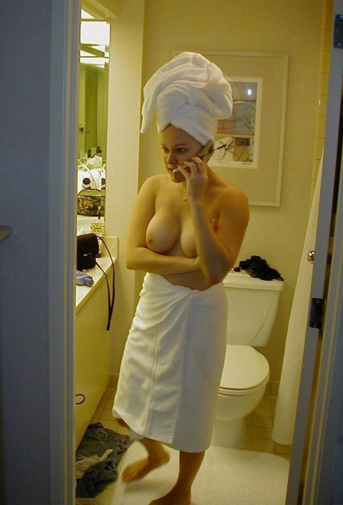 Girl In Towel Sexy Photo