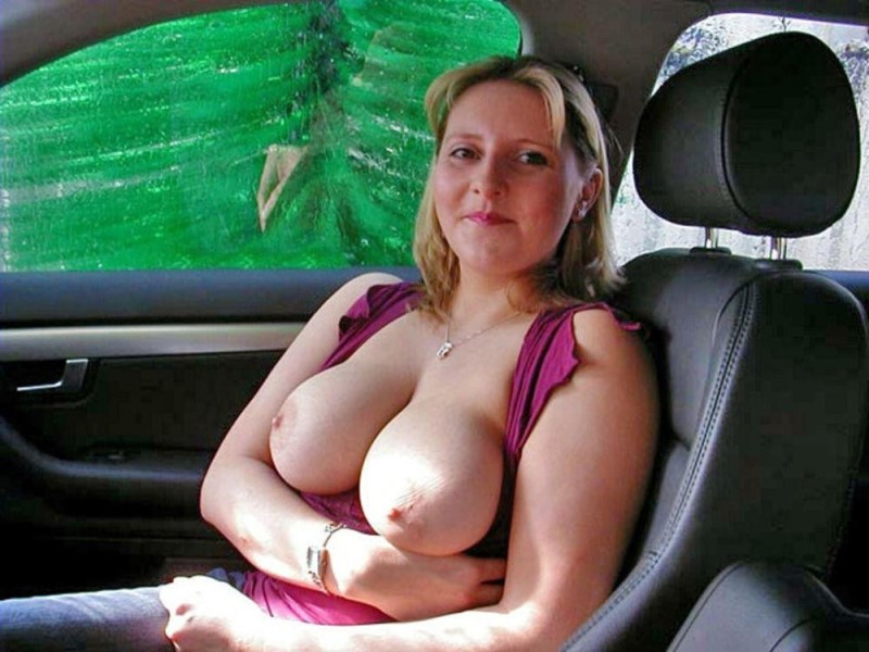 Girl Being Naughty In Car