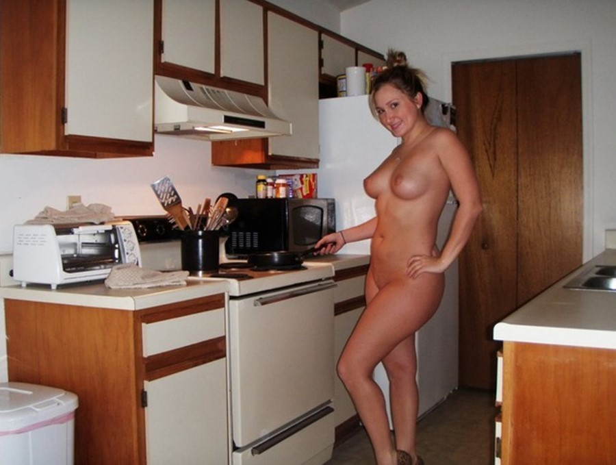 Nudist Girl In The Kitchen