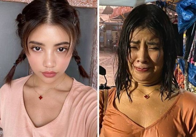 Thai model shows the truth behind perfect instagram photos