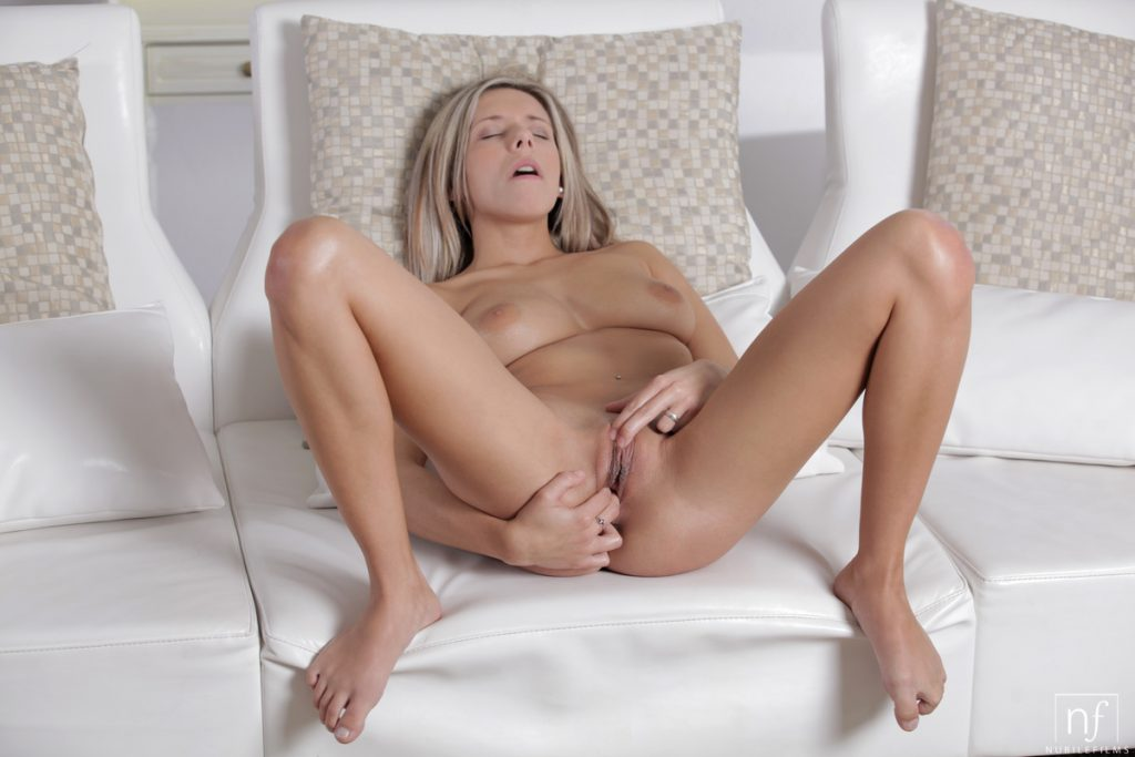 Blonde Tracy Fingers Her Pussy
