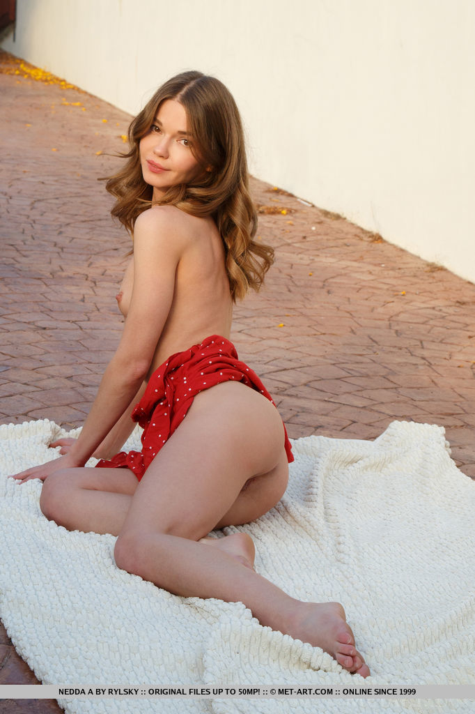 Nedda A. Pulls Her Skirt And Shows Her Naked Bodyl