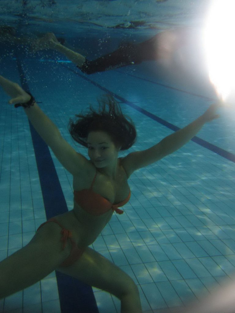 Nudist Girl Flashing Underwater