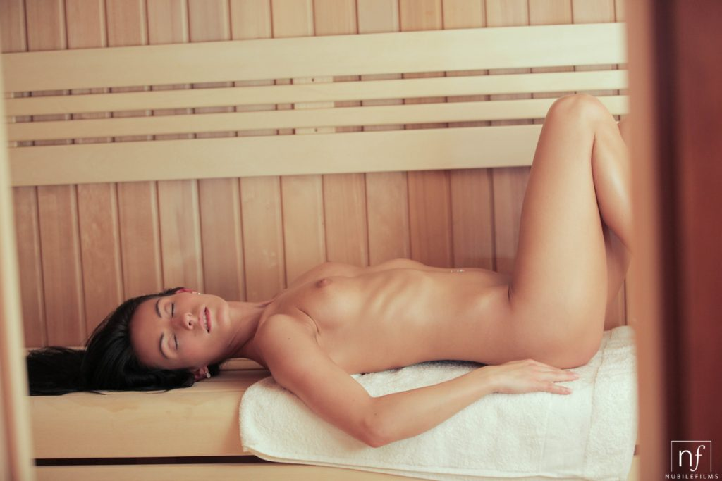 Mindy Seduces Sauna Room Boy
