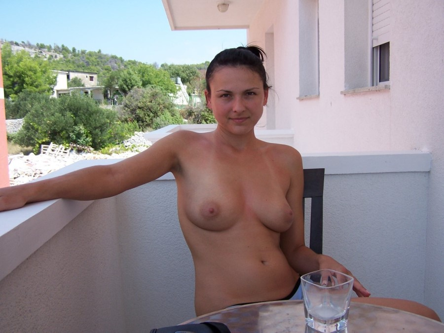 Naughty Babe In Balcony