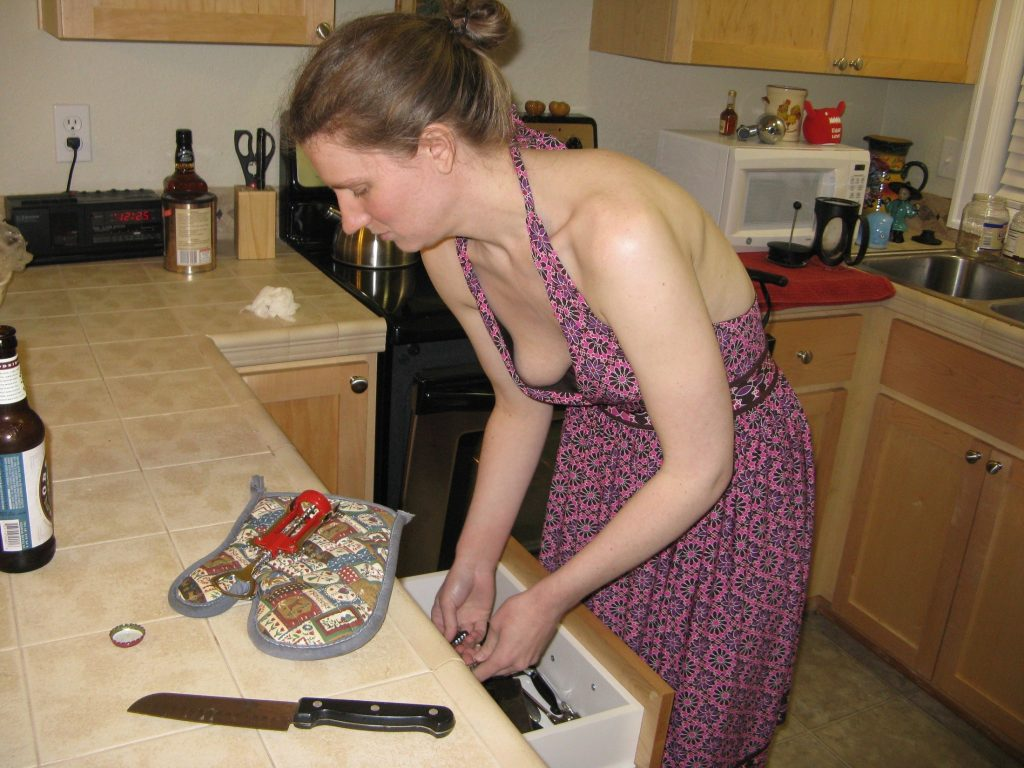 Girl In Kitchen Nude Erotic Photo
