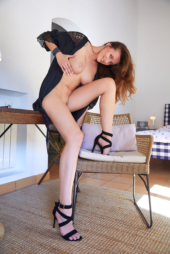 Stacy Cruz On Black Heels Hot Naked Photo