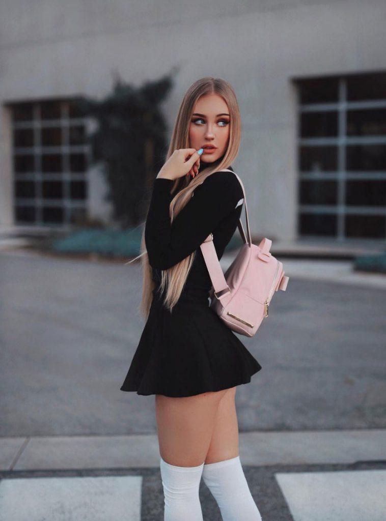 Hot Chick In School Uniform