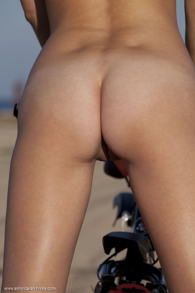Mishel C Naked Girl In Public With Her Bike