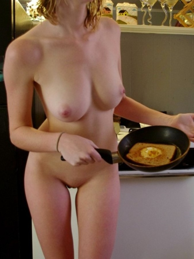 Nudist Naughty Girl In The Kitchen