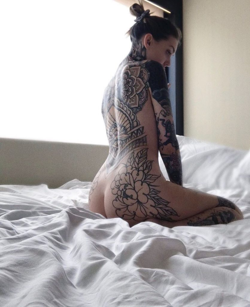 Nudist Tattooed Girl
