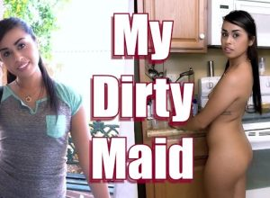 Sexy Maid Eva Saldana Rides Dick For Extra Cash