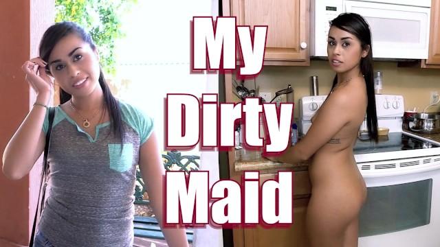 Sexy Maid Eva Saldana Rides Dick For Extra Cash