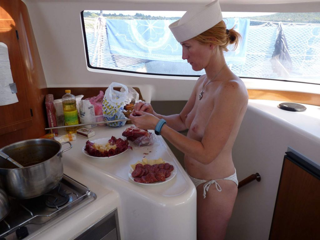 Nude Girl On The Boat
