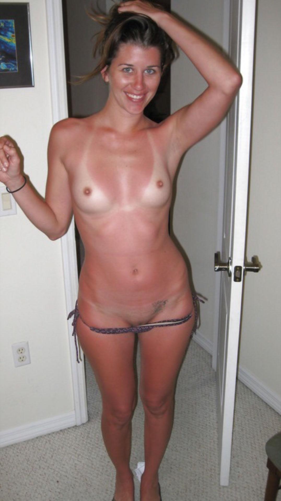 Tan Line Sexy Babe
