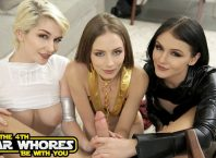 Foursome With Hot Pornstars Skye Blue, Rosalyn Sphinx and Kyler Quinn