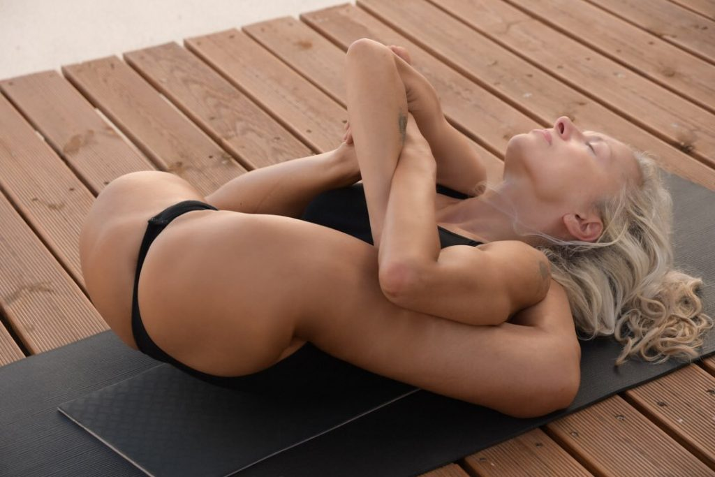 Hot Babe Doing Yoga