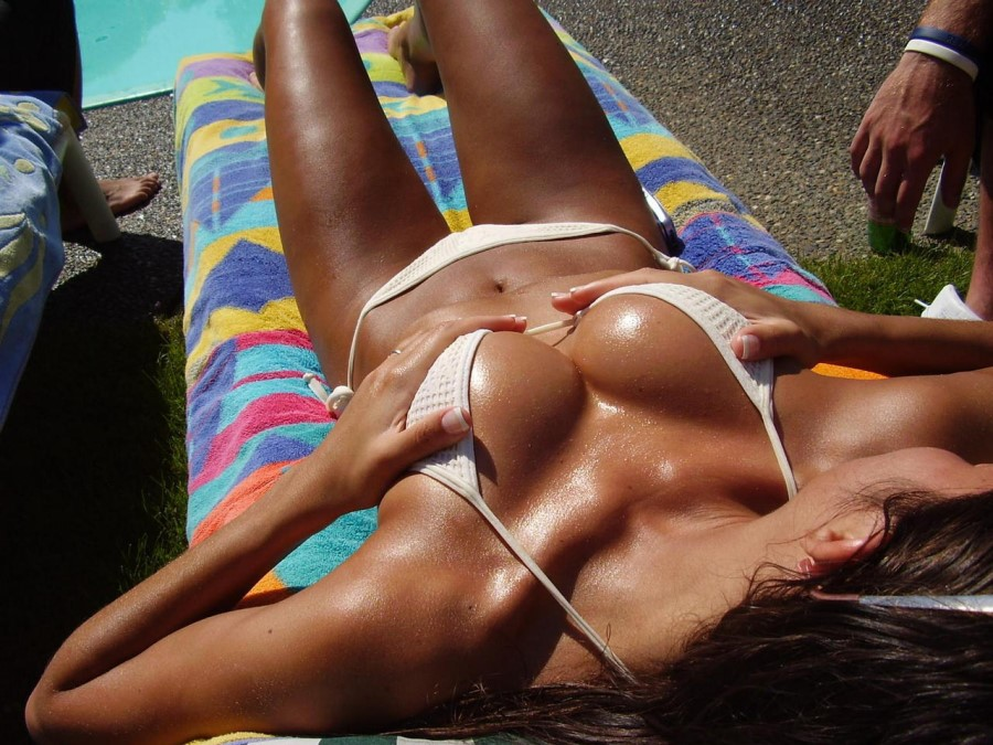 Nudist Babe Tanning In Public Place
