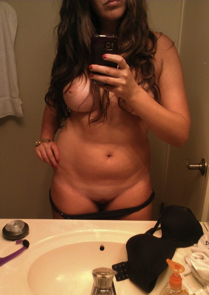 Sexy Woman Naked Selfie