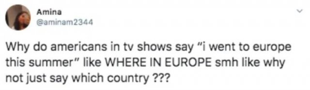 American people does this but non american don't understand