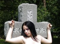 Cemetery Flashing Nude XXX