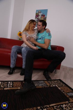 German mature Lilly Ladina seduces her stepson and gets rammed deeply