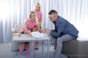 18 year old blondes lose their virginity to a teacher that they fancy