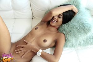 Hot black amateur Princess Yummy does a really big cock in POV mode