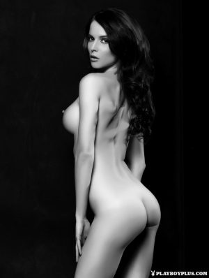 Solo model Victoria Ananieva strikes great nude poses for Playboy centerfold